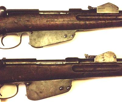 прицельных приспособлений винтовки Mannlicher M1888 90 (вверху) от Mannlicher M1886 (внизу)
