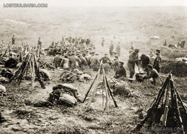 на позицията край Чаталджа, 1912 г.