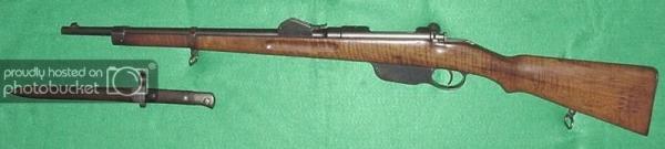 (жандармский карабин Манлихера обр. 1890 года и штык к нему 01