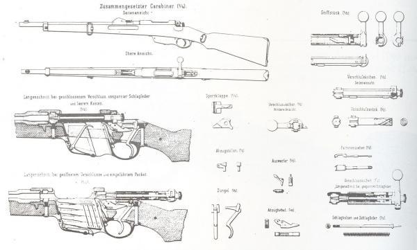 карабин Манлихера обр. 1890 года (чертёж) 01