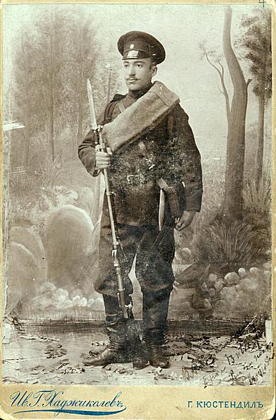 Караманов като войник през август 1897 г.