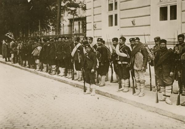 Balkan Wars Bulgarian troops assembling Sofia Bulgaria 1912 1913
