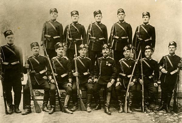 Bulgarian soldiers during the Balkan Wars, 1912–13