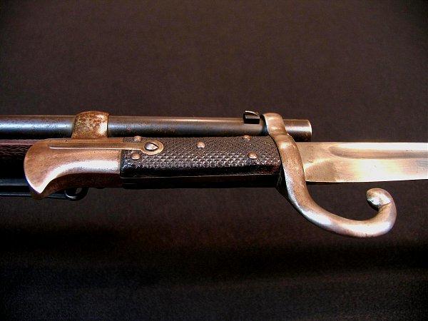 винтовка Пибоди обр. 1874 г. с примкнутым унтер офицерским штыком 16