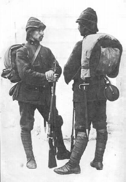 солдат с винтовкой Маузера обр. 1903 года и штыком. Экипировка ПМВ 01