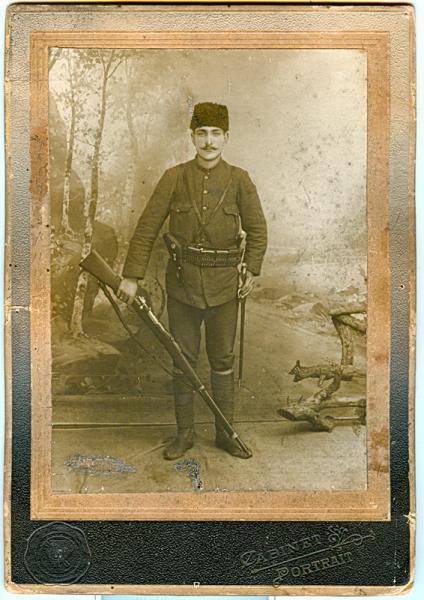 солдат с винтовкой Маузера обр. 1903 года 01