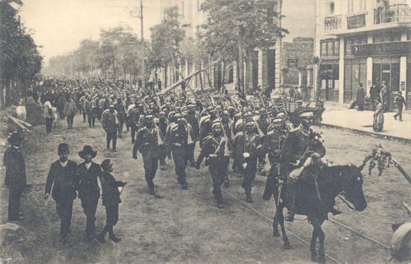 6th Infantry Regiment (Bulgaria) leaving Sofia, WWI
