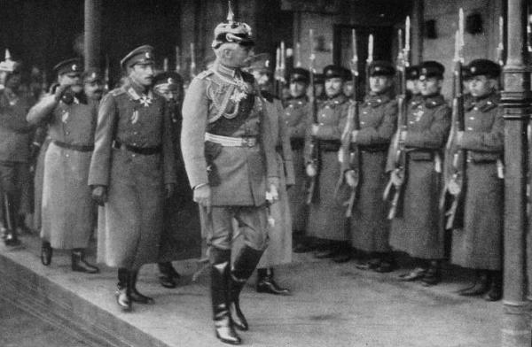 German Field Marshal August von Mackensen inspecting Bulgarian troops, 1916