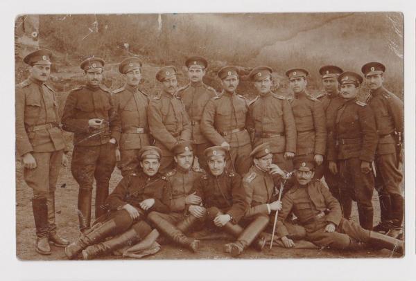 Group Bulgarian Officers Portrait Military ww1 Orig Field