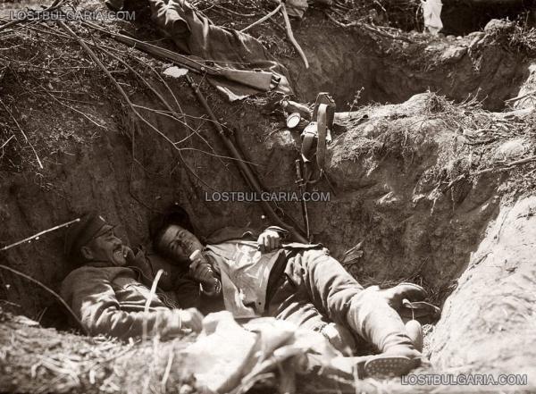 окопите на позициите на 23 ти пехотен Шипченски полк, ПМВ, 1917г.