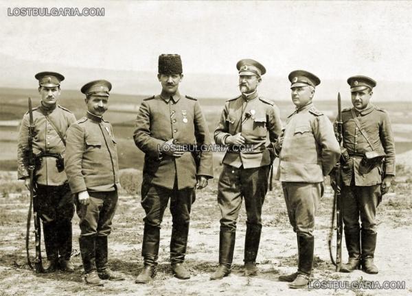 офицери с офицер от съюзната османска армия, 1916 г.