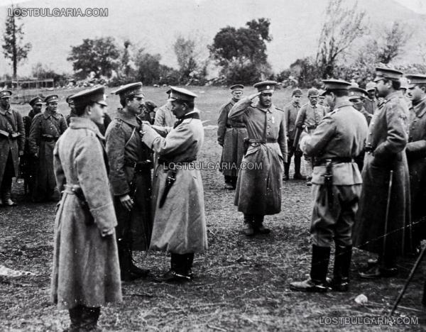 """на отличилите се, от 3 ти пехотен Бдински полк (""""Бдинци"""") при мартенските боеве на Червената стена   Баба планина, Македония, 1917 г."""