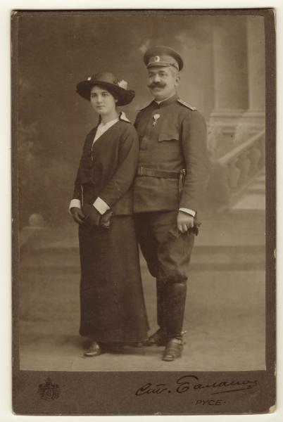 фотография болгарского офицера с супругой. Русе, 1916 год (01)
