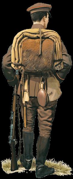 солдат с винтовкой Маузера (предположительно турецкой). ПМВ 01