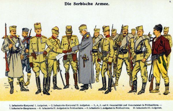 Moritz Ruhl   Serbische Armee 1914   Felduniformen (1)