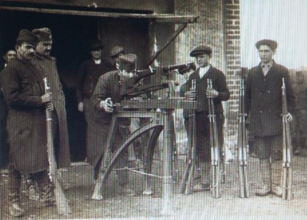 сербами винтовок Маузера обр. 1899 года в Крагуеваце. 1899 год