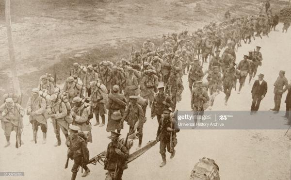 British and French soldiers near Salonika, Greece, World War One, 1915