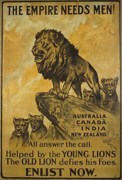 пропагандистский плакат времён ПМВ 01