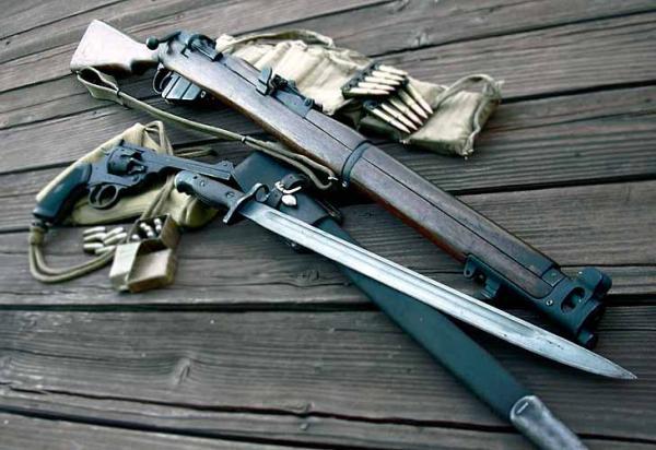 винтовка SMLE Mk III и штык обр. 1907 13 года к ней
