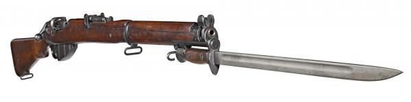 винтовка Ли Энфилд (SMLE) Mk III с примкнутым штыком обр. 1907 13 года (02)