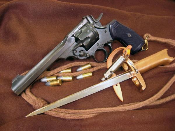 Webley Mk VI. Pritchard Greener Bayonet 00г