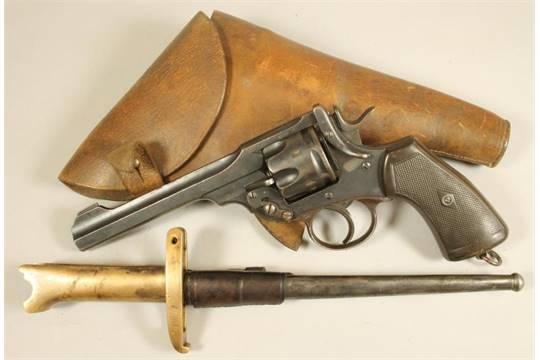 Webley Mk VI. Pritchard Greener Bayonet 00а