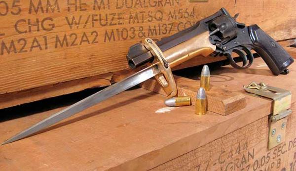 Webley Mk VI. Pritchard Greener Bayonet 00б