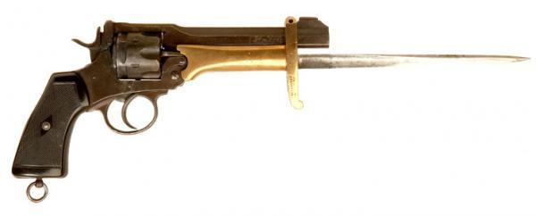 Webley Mk VI. Pritchard Greener Bayonet 01