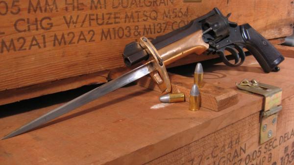Webley Mk VI. Pritchard Greener Bayonet 00в
