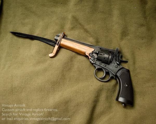 Webley Mk VI. Pritchard Greener Bayonet 12