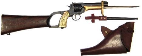 Webley Mk VI. Pritchard Greener Bayonet с прикладом 04