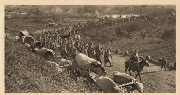 сербской армии через долину Моравы