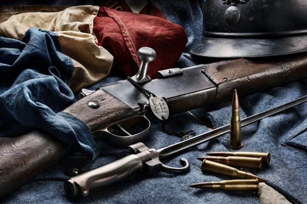 Лебеля обр. 1886 93 года и игольчатый штык к ней 01