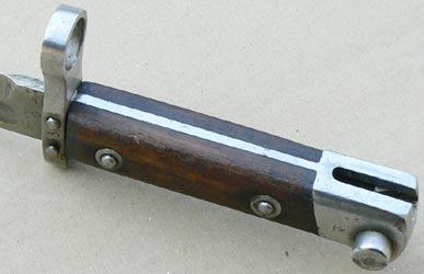 армейский штык к винтовке Манлихер Шёнауэр М1903, переделанный в Болгарии под М1895 06