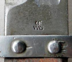 штык ВМФ к винтовке Манлихер Шёнауэр М1903, переделанный в Болгарии по М1895 05