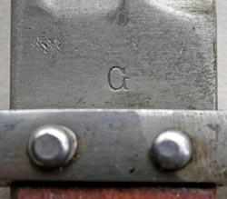 штык ВМФ к винтовке Манлихер Шёнауэр М1903, переделанный в Болгарии по М1895 06