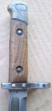штык к винтовке Манлихер Шёнауэр М1903, переделанный в Болгарии под М1895 02
