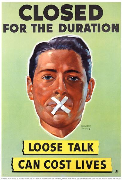 1942. Закрыто на время. Бесполезный разговор может стоить жизни