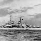 """Американский легкий крейсер """"Атланта"""" на испытаниях у восточного побережья США"""