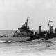 """Крейсер """"Эдинбург"""" в Атлантике во время сопровождения американского авианосца """"Уосп"""""""