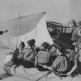 Мальчики из «Гитлерюгенда» в гостях у летчиков морской авиации люфтваффе, сидят в шлюпке