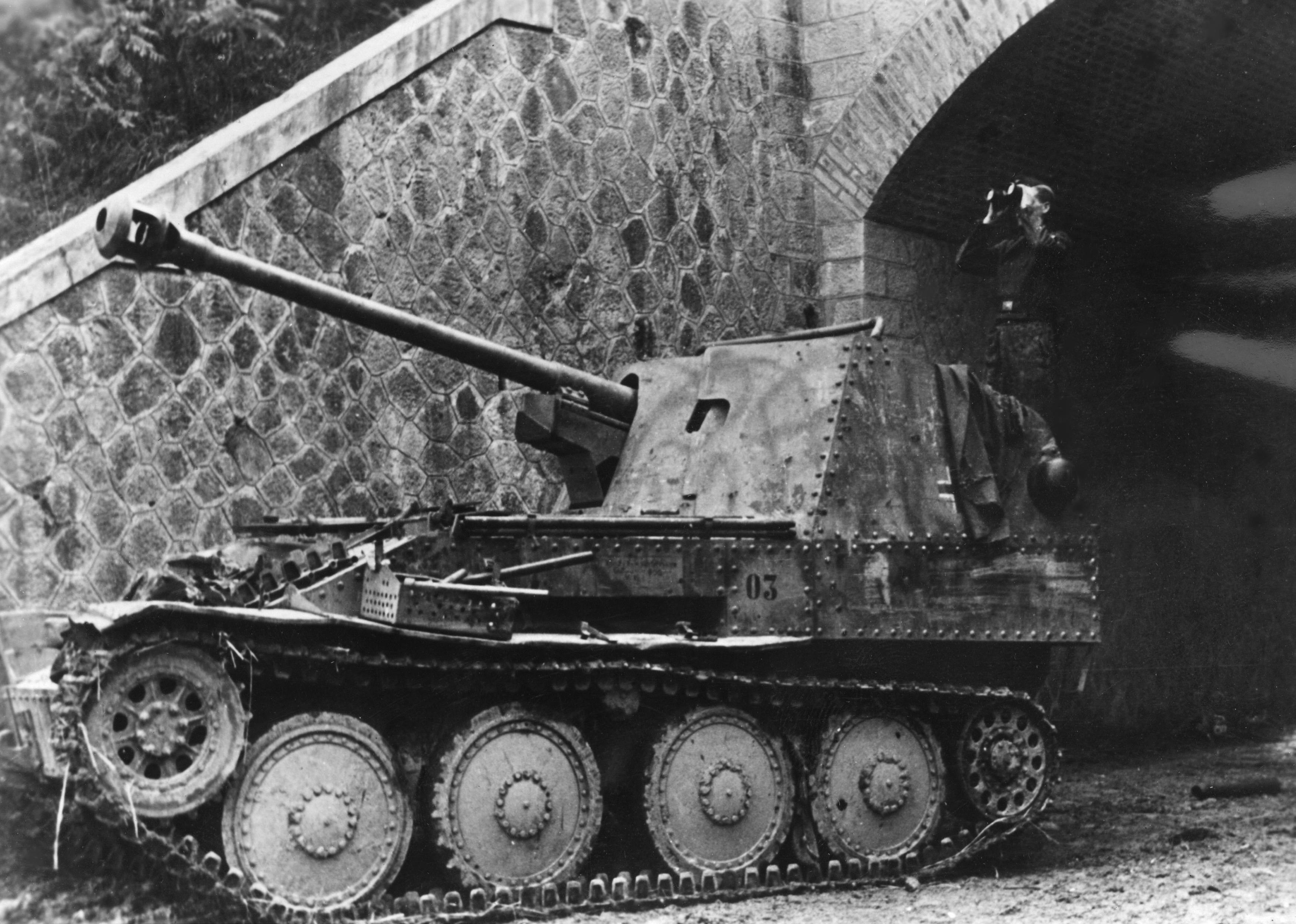 Немецкая противотанковая САУ Marder III Ausf. M на итальянском фронте