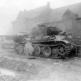 """Два немецких танка Pz. Kpfw. V """"Пантера"""", подбитые в бельгийской коммуне Кринкельт"""