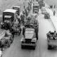 Передвижение советских войск на шоссе под Берлином