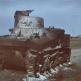 """Подбитый и сгоревший советский танк М3 """"Генерал Ли"""""""