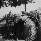 Маршал И.С. Конев на наблюдательном пункте в районе города Кросно