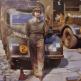 """Принцесса Елизавета в форме Женского вспомогательного корпуса у автомобиля """"Остин Тилли"""""""